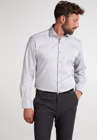 Eterna - MODERN FIT - Shirt - silbergrau - 0