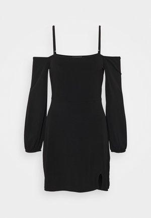 PAMELA REIF OFF SHOULDER MINI DRESS - Jersey dress - black