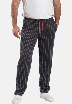 Trousers - dunkelblau gestreift