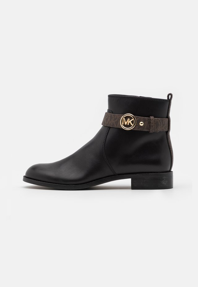 ABIGAIL FLAT - Ankle boots - black/brown