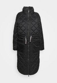 Hunter ORIGINAL - WOMENS REFINED LONG QUILTED COAT - Zimní kabát - black - 6