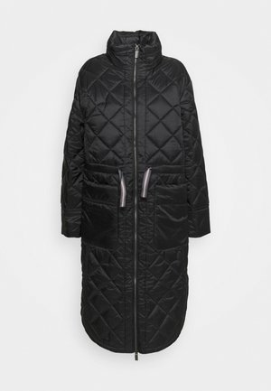 WOMENS REFINED LONG QUILTED COAT - Talvitakki - black