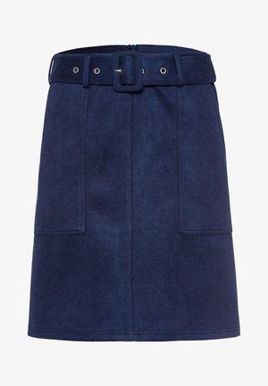 A-line skirt - velvet blue