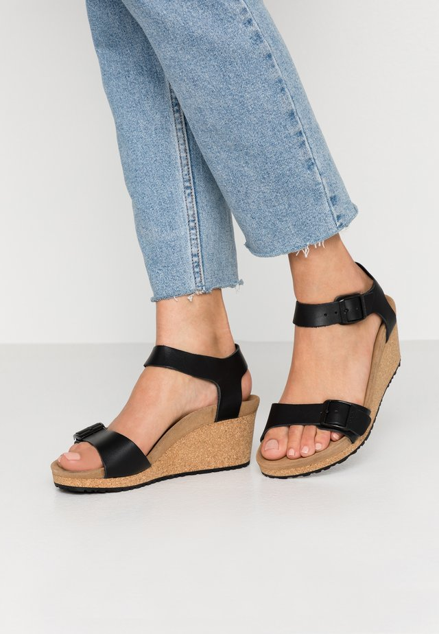 SOLEY - Wedge sandals - black