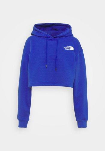 TREND CROP DROP HOODIE - Sweatshirt - blue