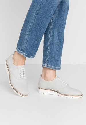 LEATHER LACE-UPS - Oksfordki - grey