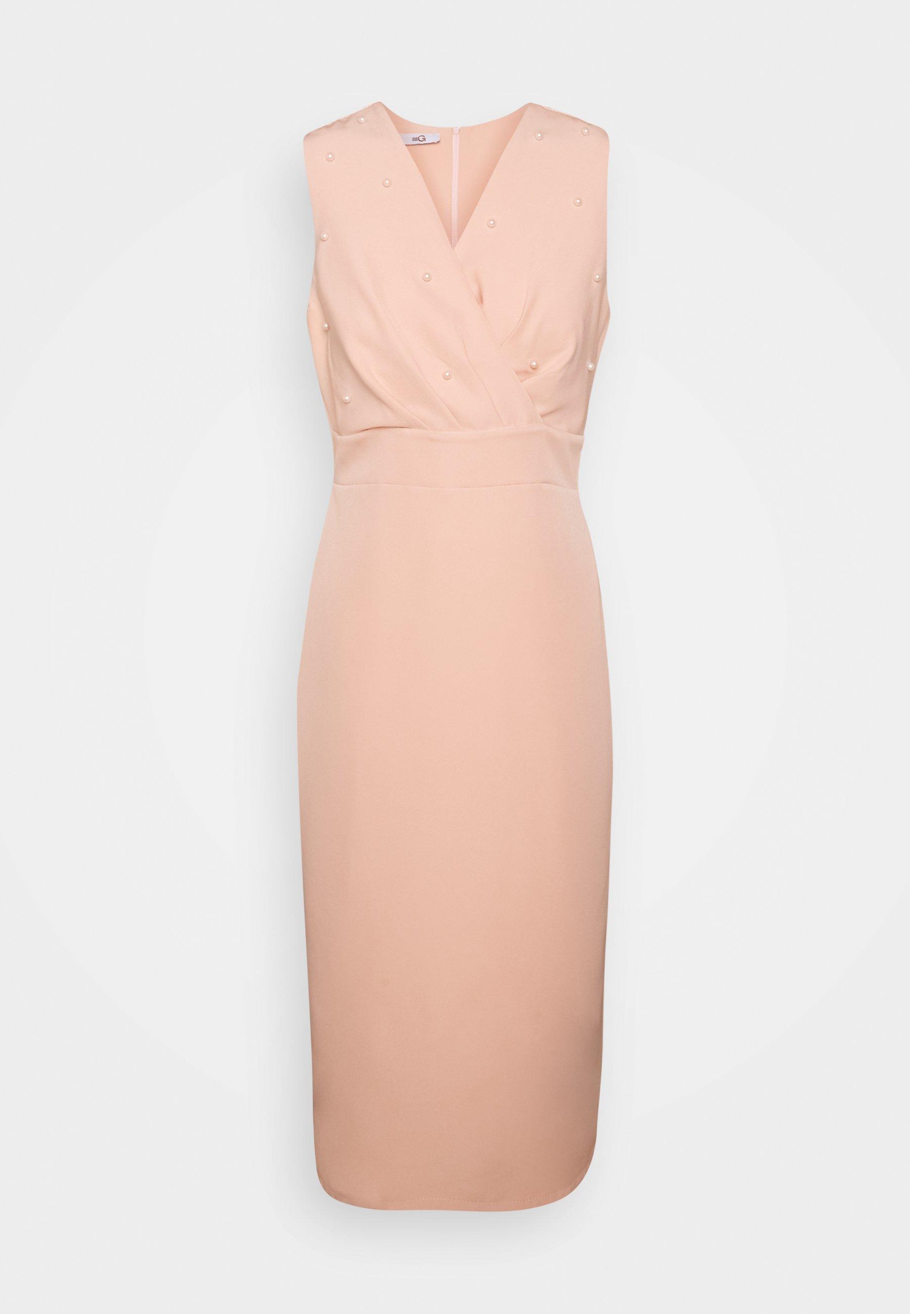 PEARL DETAIL DRESS - Cocktailkleid/festliches Kleid - peach
