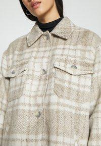 NA-KD - BRUSHED CHEST POCKET JACKET - Summer jacket - tan - 5