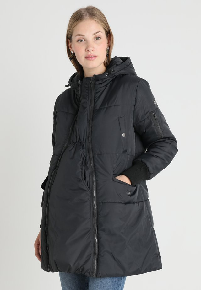 FAITH 3-IN-1 THIGH BOMBER PUFFER COAT - Talvitakki - black