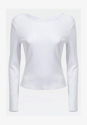 LOGO-GUMMIBAND - Long sleeved top - weiß