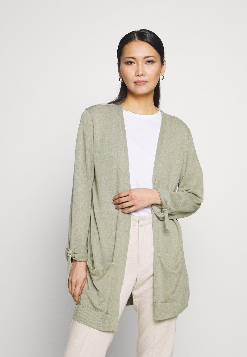 Esprit - UTILITY FINE - Cardigan - khaki green