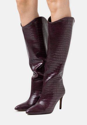 GEORGIAA - High heeled boots - bordo