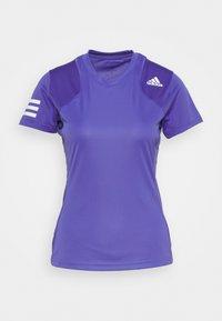 adidas Performance - CLUB TEE - T-shirt imprimé - purple/white - 0