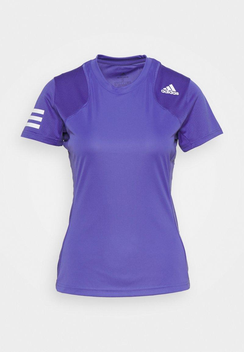 adidas Performance - CLUB TEE - T-shirt imprimé - purple/white
