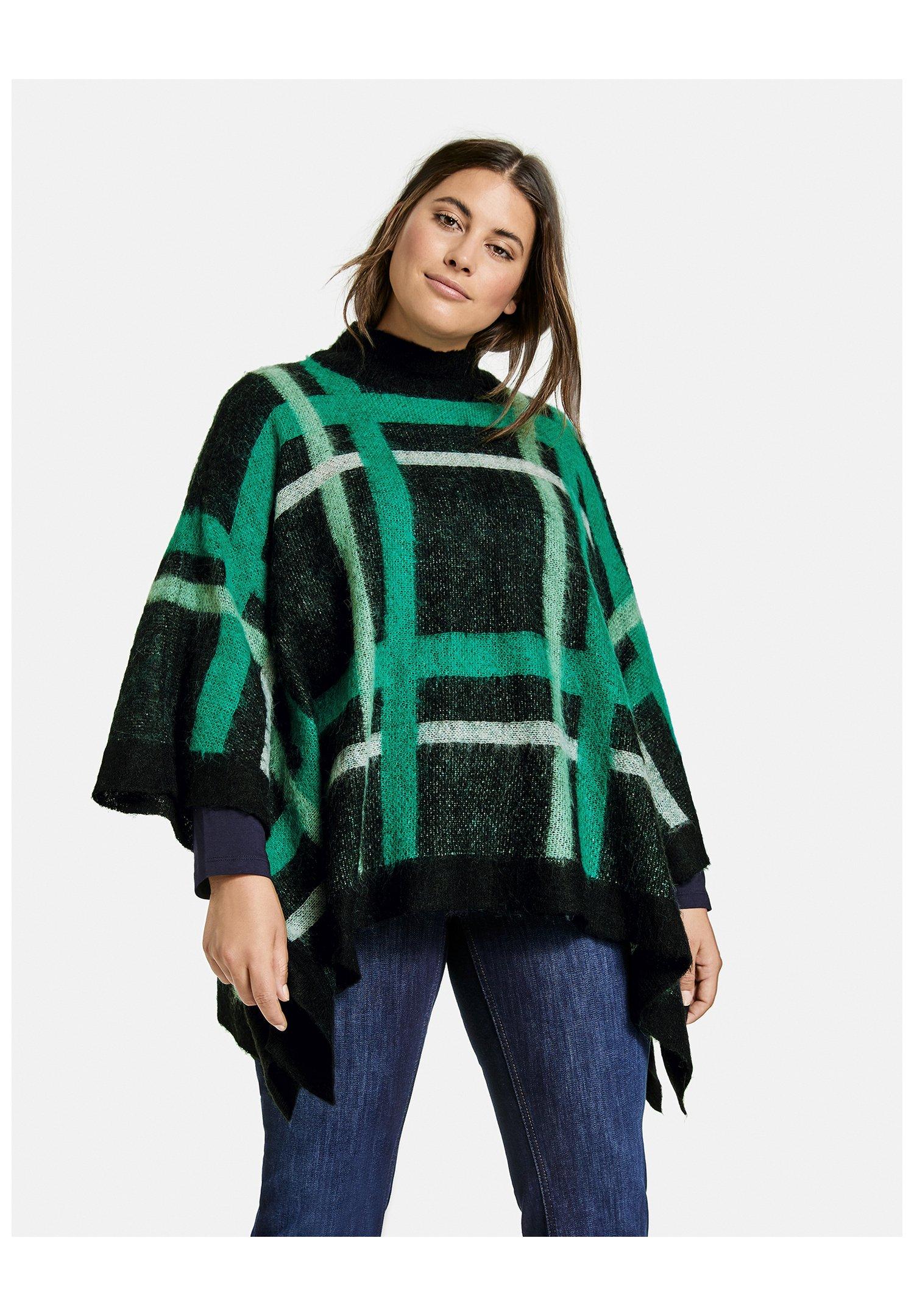 Femme ROLLKRAGEN CHIGER PONCHO MIT KARO-DESSIN - Sweatshirt