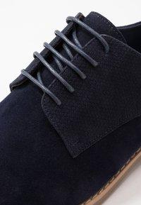 Pier One - Smart lace-ups - dark blue - 5