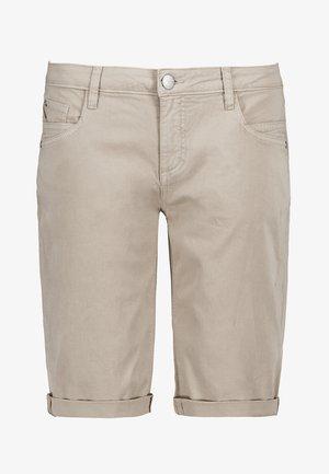 CHINO-BERMUDA - Denim shorts - beige