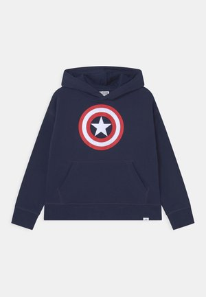 MARVEL ANGENGERS CAPTAIN AMERICA - Sweat à capuche - tapestry navy