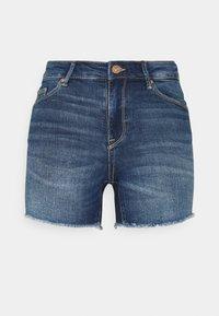 ONLY - ONLBLUSH  LIFE MID - Jeansshorts - dark blue denim - 0
