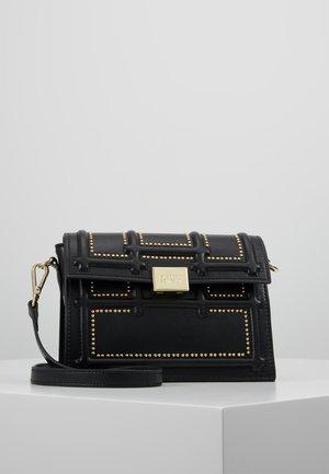 GISELLE - Across body bag - black/gold