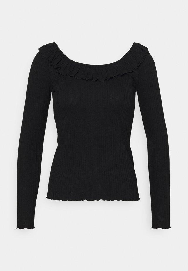VMCLARA FRILL  - Bluzka z długim rękawem - black