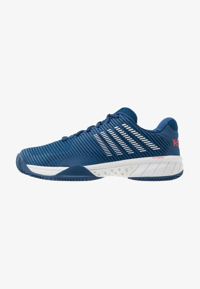 HYPERCOURT EXPRESS 2 HB - Clay court tennis shoes - dark blue/white/bittersweet