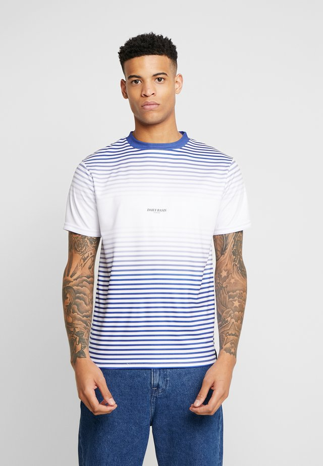 STRIPE FADE TEE - T-shirt imprimé - white