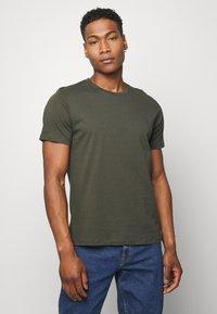Topman - 7 PACK - Camiseta básica - mottled grey/khaki/blue - 5