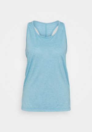 YOGA LAYER TANK - Sports shirt - cerulean heather/glacier blue/light armory blue