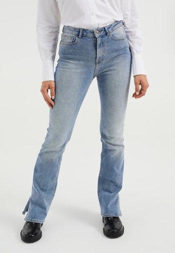 MET SPLIT - Jeans a zampa - blue