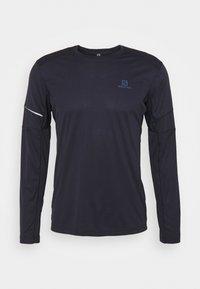 Salomon - AGILE TEE - Camiseta de deporte - night sky - 0