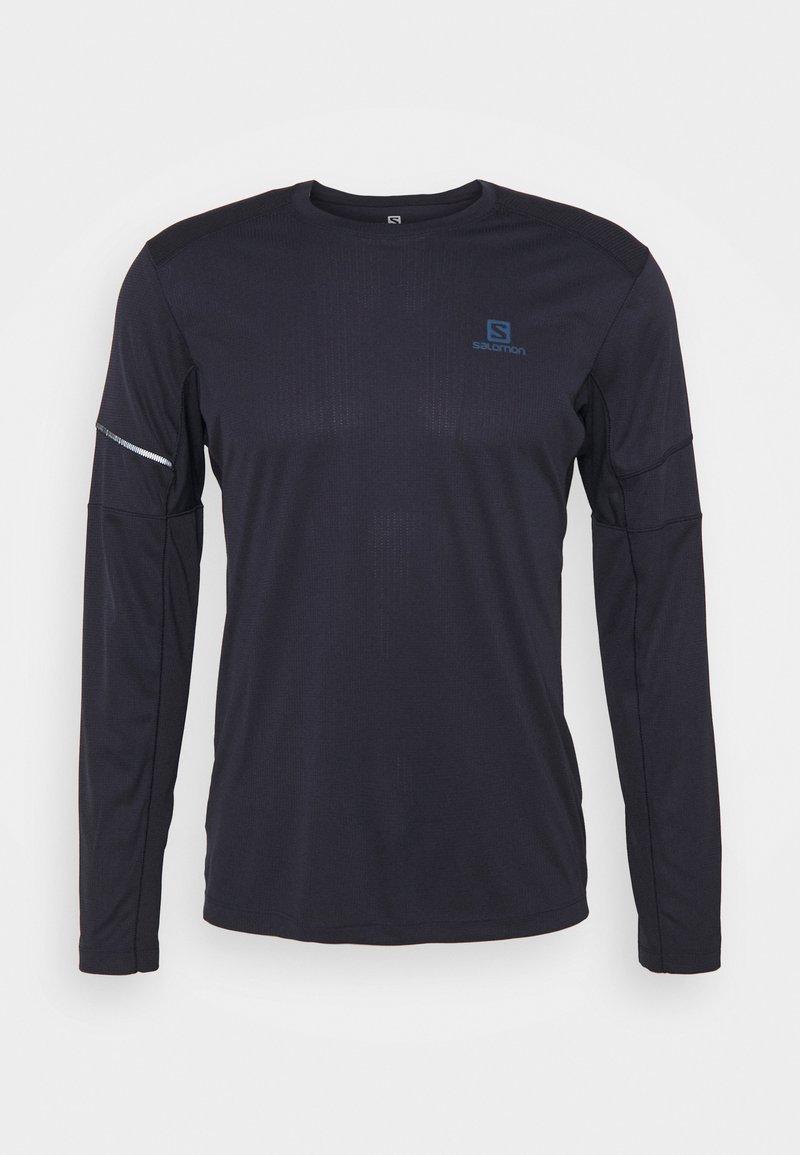 Salomon - AGILE TEE - Camiseta de deporte - night sky