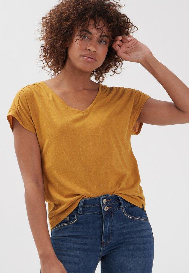 T-Shirt print - jaune
