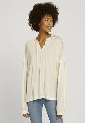 Long sleeved top - soft powder beige