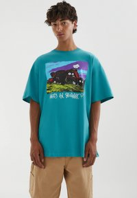 PULL&BEAR - Print T-shirt - evergreen - 0