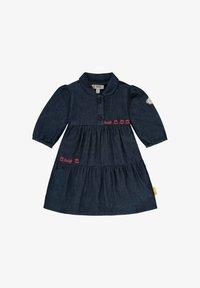 Steiff Collection - MIT LOGO- UND BLÜTENSTICKEREI - Denim dress - mood indigo - 0