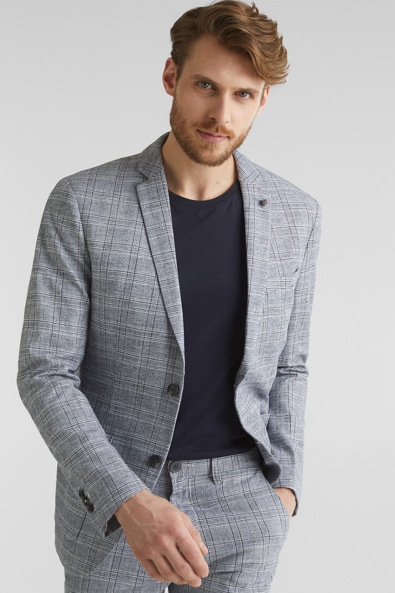 Esprit Collection - OCS LIMIX CHECK - Blazer jacket - blue 3
