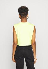 adidas Originals - CROPPED TANK - Top - semi frozen yellow - 2