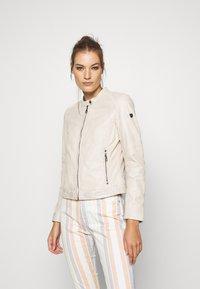 Gipsy - GGNIDEL LAMAS - Leather jacket - off white - 0