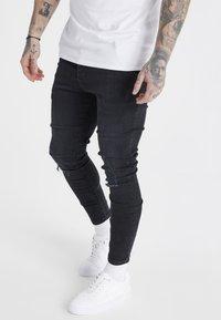 SIKSILK - Slim fit -farkut - washed black - 0