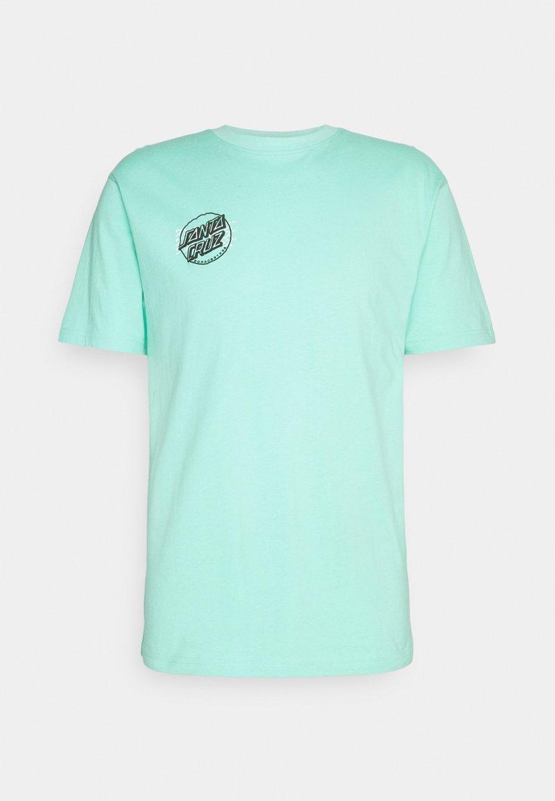 Santa Cruz - CRIME HAND UNISEX  - Print T-shirt - jade green