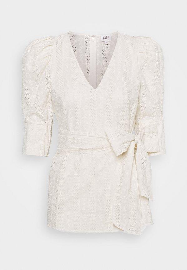 Twist & Tango NOVA BLOUSE - T-shirt z nadrukiem - whispy white/beżowy LLLZ