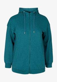 Zizzi - Zip-up hoodie - green - 3