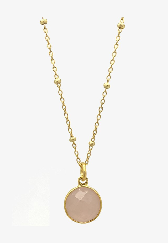 Necklace - gold pink