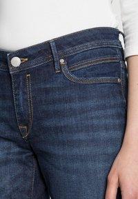 edc by Esprit - STRAIGHT - Straight leg jeans - blue dark wash - 4