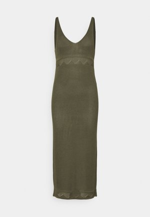 YASFAITH STRAP DRESS - Jumper dress - olive night