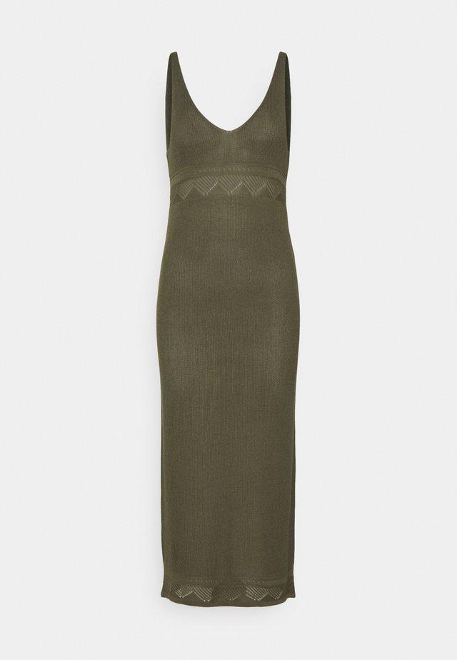 YASFAITH STRAP DRESS - Jumper dress - olive night