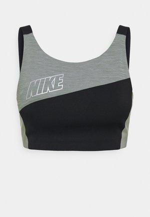 LOGO BRA PAD - Sports bra - black/smoke grey/metallic silver