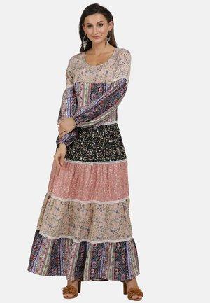 Maxi dress - multi flower print
