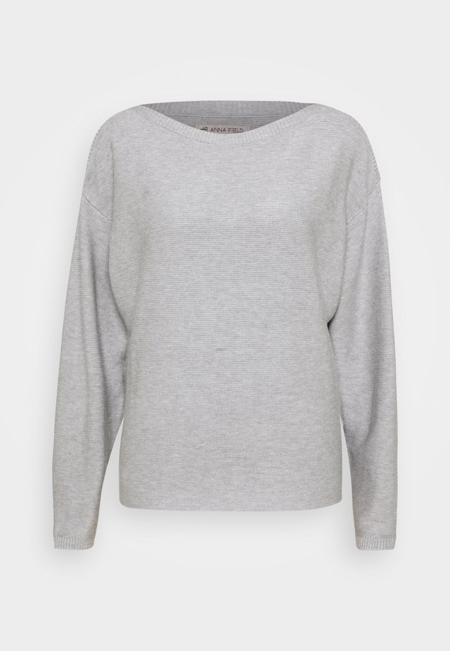 MID BAT SHAPE STRUCTURE - Jumper - mottled light grey